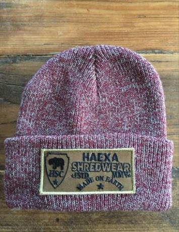 BEANIE PATCH RED HEATHER